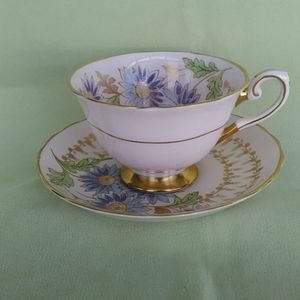 Teacup & Saucer Floral Tuscan England Pink